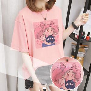 Sailor-Moon-T-Shirt-Woman-Harajuku-Kawaii-Clothes-Pink-Aesthetic-T-Shirt-Women