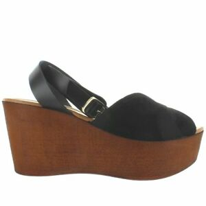 5b6382798f90 Image is loading Seychelles-Laugh-More-Black-Suede-High-Platform-Wedge-