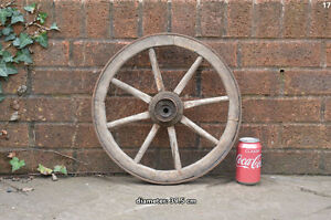 Vintage-old-wooden-cart-wagon-wheel-39-5-cm-FREE-DELIVERY