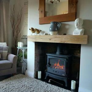 Oak Beam Fireplace Mantle Floating Shelf Mantelpiece Lintel Air