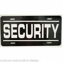 Security License Plate Fits Dodge Charger Ford Crown Vic Police Interceptor