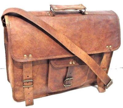 Leather Vintage Messenger Shoulder Men/'s Satchel And Laptop School Briefcase Bag