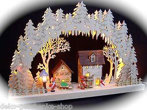 3D-LED-Arco-di-luci-3-bambini-dell-039-INVERNO-CASE-LANTERNA-43-x-30-cm-10024
