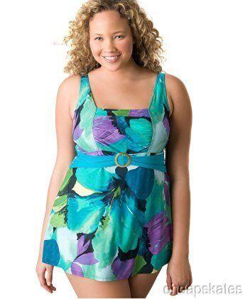 Lane Bryant Women's Watercolor Swim Dress Plus Size Swimsuit NEWFREE SHIPPING
