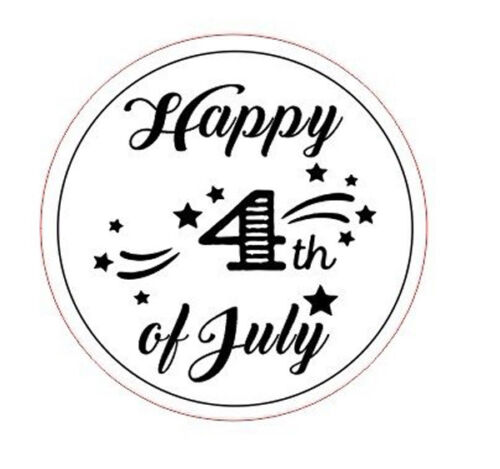 American Independence Day Happy 4th of July Self Inking Rubber Stamp,Gift Stam