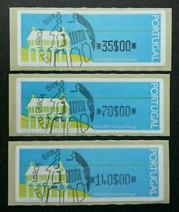 SJ-Portugal-Espigueiro-1991-House-North-Of-ATM-frama-label-stamp-CTO