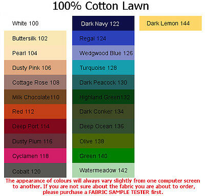 4x5cm sample colour tester /& per metre purchasing German made 100/% Cotton Twill