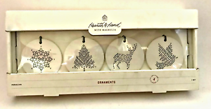 Hearth and Hand Magnolia Porcelain Christmas Ornaments Joanna Gaines Set of 4