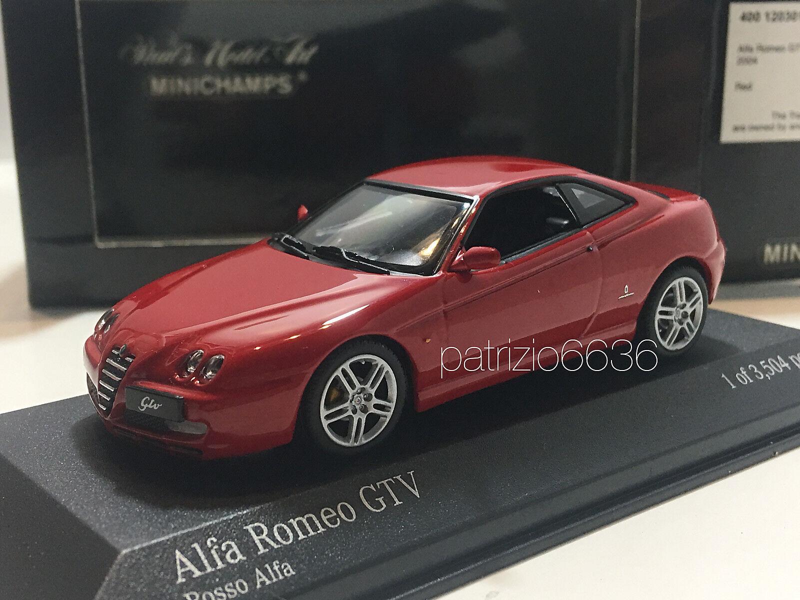 MINICHAMPS 1 43 Alfa Romeo Romeo Romeo Gtv 2004 rouge Art. 400120301 d8b9e0