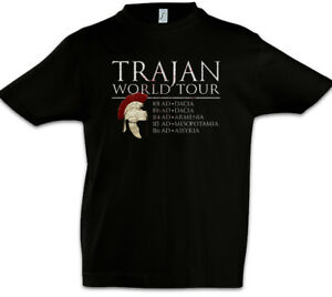 Trajan-World-Tour-Kinder-Jungen-T-Shirt-Fun-Rom-Rome-Legion-Roemischer-Kaiser