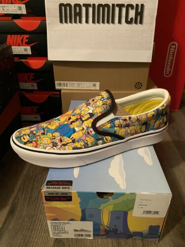 Vans x The Simpsons Slip On Springfield Collage Co