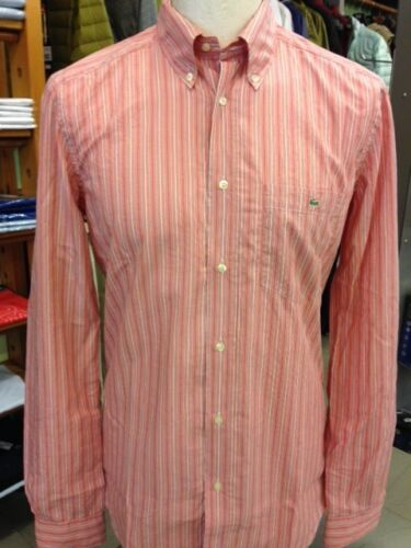 SHIRT LONG SLEEVE CHEMISE CAMICIA LACOSTE MANICA LUNGA CH3826 96F CORAIL CORALLO