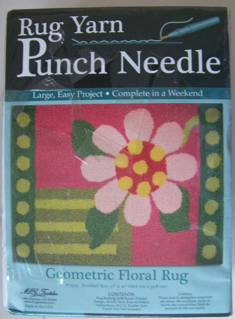 Mcg Textiles Rug Yarn Punch Needle Kit Geometric Fl New Sealed