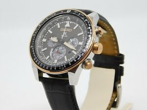 Seiko-Prospex-Solar-Rose-Gold-V192-0AA0-Men-039-s-Watch-44mm-with-Box-amp-Papers-RRP1K