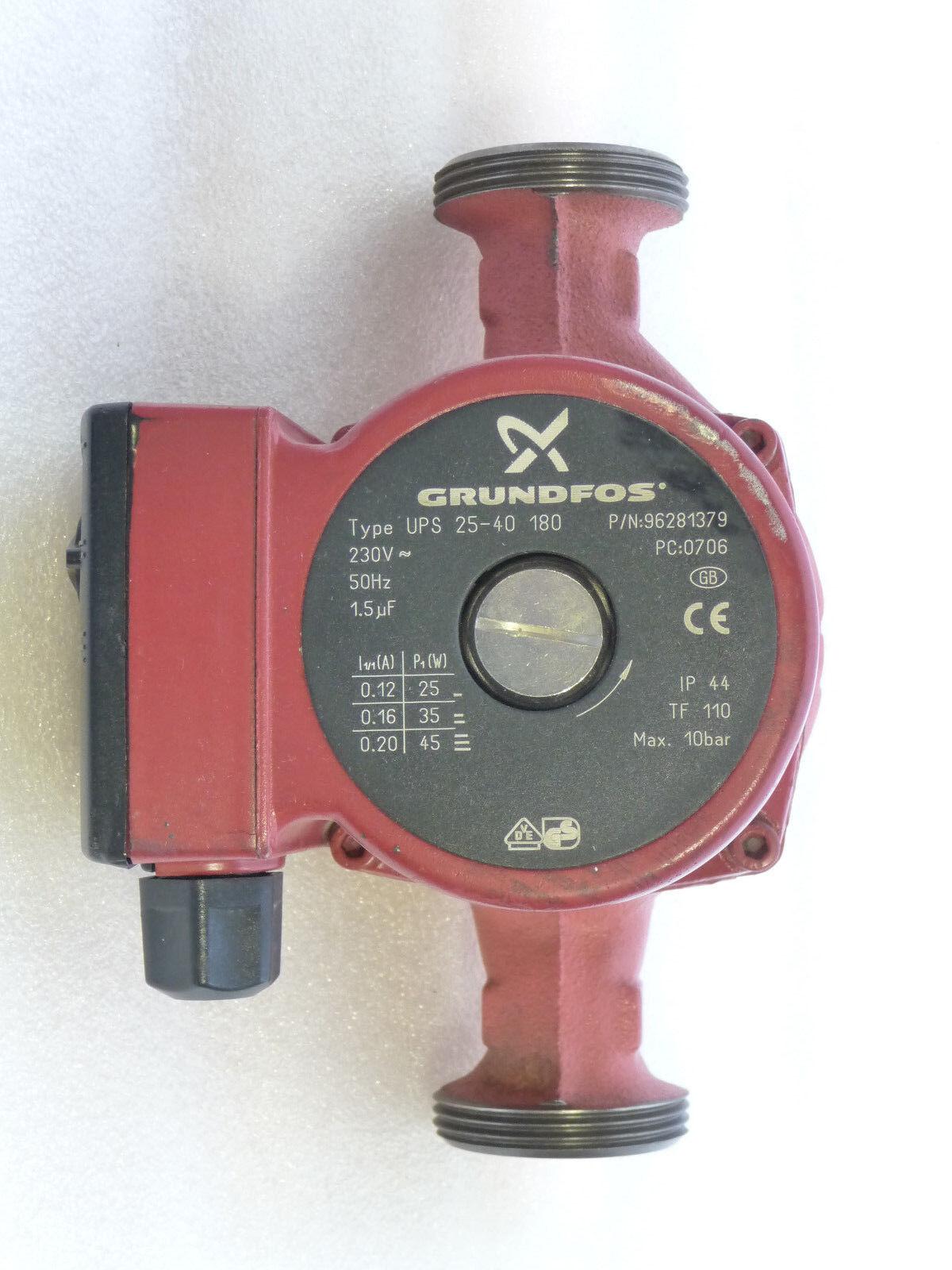 Grundfos UPS 25-40 Heizungspumpe 230 Volt Umwälzpumpe 180 mm gebraucht P6117/19