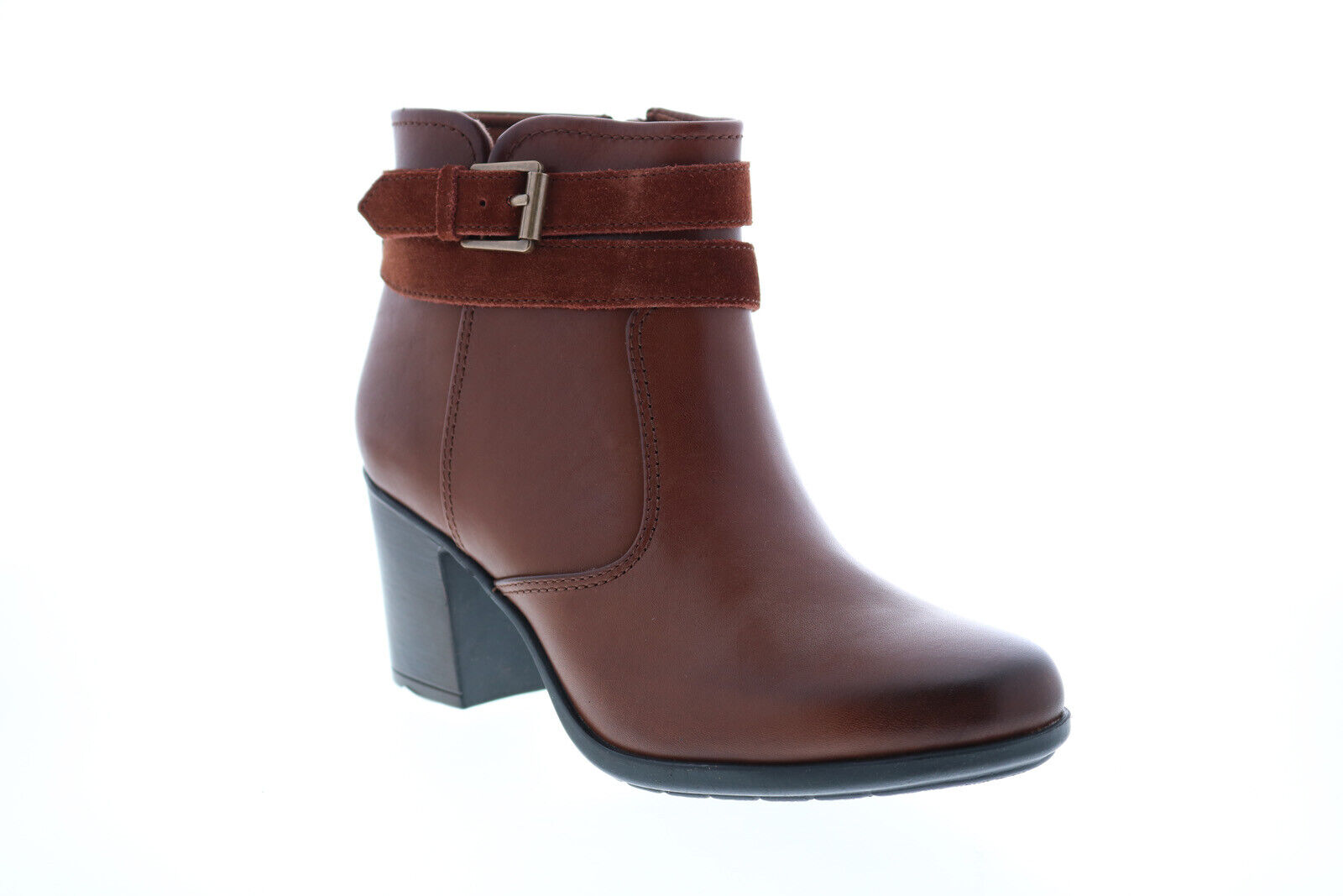 Clarks Diane Peake 26152974 Womens Brown Leather Ankle & Booties Boots