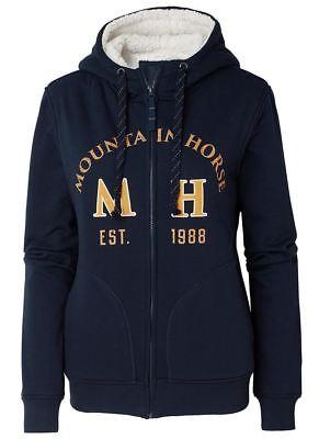 Mountain Horse Island Ladies Mens Unisex Cozy Zip Pile Lined Winter Warm Hoodie
