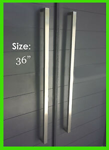 modern door pulls bronze image is loading squaredoorpullhandlemodernlongentrypulls square door pull handle modern long entry pulls stainless steel