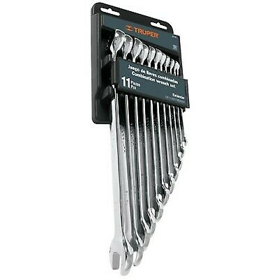 TRUPER JC-11M Combination wrench set, 11 pieces, polished, millimeter
