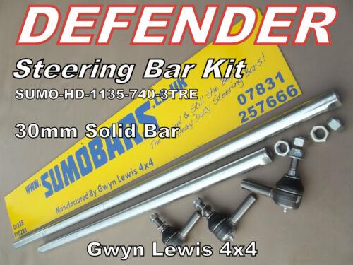 Defender 30mm Solid Heavy Duty Steering Bar Kit Track Rod Drag Link SUMOBAR