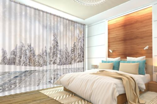3D Pine Tree 8 Blockout Photo Curtain Printing Curtains Drapes Fabric Window AU
