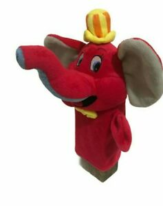 Red-Elephant-Hand-Puppet-Finger-Embroidered-Eyes-Soft-Plush-Toy