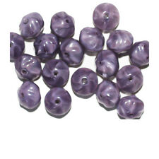 Purple Shiny Cushion Czech Pressed Glass Beads 8mm (pack of 18)