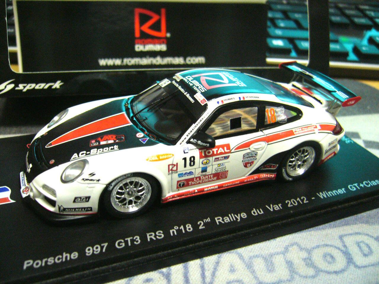 Porsche 911 997 gt3 rs  18 rallye tu var 2012 winner Dumas spark 1 750 Lim 1 43
