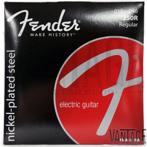 Fender 250R Super 250 Nickel Plated Electric Guitar Strings 3 Pack 10-46