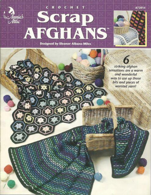 Scrap Afghans Annies Attic Crochet Pattern Booklet 872014 Ebay
