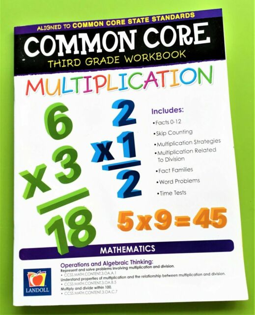 Common Core 3rd Grade Math Workbook Multiplication or Division You Choose