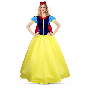 Image is loading Snow-White-Belle-Princess-Dress-Adult-costume-Bell-  sc 1 st  eBay & Snow White Belle Princess Dress Adult costume Bell Beauty Beast ...