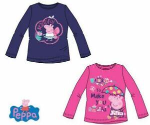 Peppa Pig Langarmshirt Shirt Pulli Longsleave Langarm Baumwolle Weiß