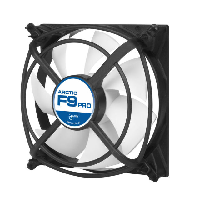 Arctic Cooling F9 Pro 90mm Case Fan with Vibration Absorption, 39CFM @ 2000rpm