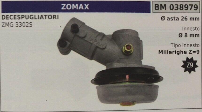 COPPIA CONICA DECESPUGLIATORE ZOMAX ZMG 3302S ASTA Ø26 MILLERIGHE Z9