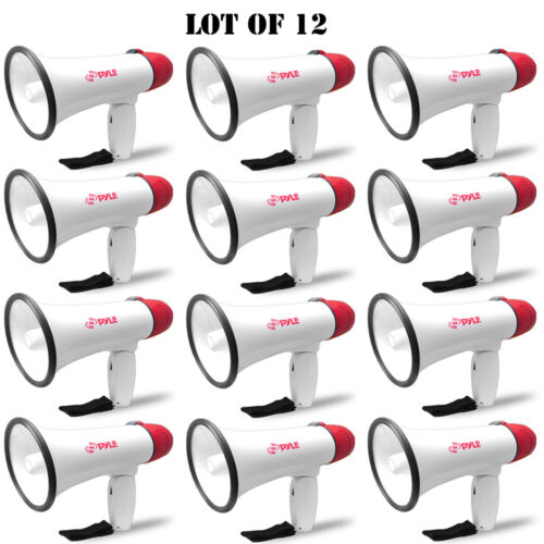 Lot of 12 Pyle 20W Compact Professional Power Megaphone W// Siren 1//4 Mile Range