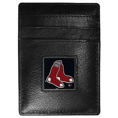 Fanartikel UnabhäNgig Boston Rot Rox Mlb Feine Vollleder Kartenhalter Geldklammer Portemonnaie