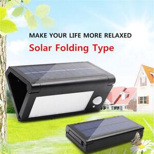 Pieghevole-LED-Energia-Solare-Sensore-di-Movimento-Muro-Luce-da-Esterno-Giardino