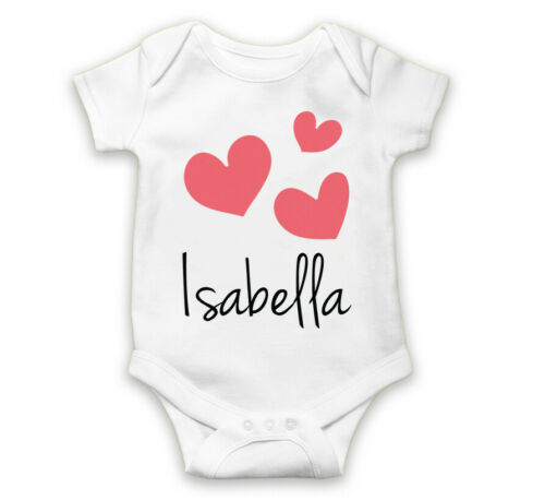 Personalised Baby Grow Vest Bodysuit Boys Girls Name Funny Baby Shower Gift 53