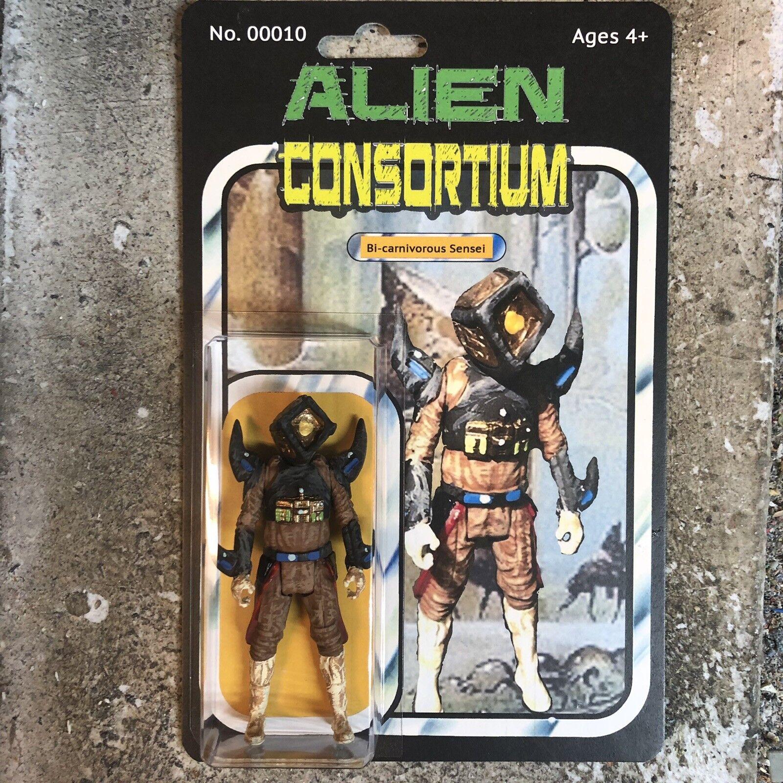 "Alien Consortium Bi-carnivgoldus Sensei 3.75"" Action Figure Figure Figure Star Force Alien Wars e009cf"