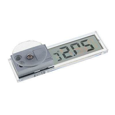 Transparent LCD Digital Room Temperature Meter Thermometer Car Windshield Cool