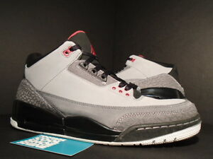 wholesale dealer 669cf b6ad8 Details about 2011 NIKE AIR JORDAN III 3 RETRO OG STEALTH CEMENT GREY FIRE  RED BLACK WHITE 12