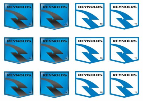 Reynolds Bicycle Frame Decal Sticker Graphic Factory Set Adhesive Vinyl 12 Pcs