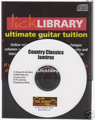 Lick Library COUNTRY CLASSICS Jamtrax Play Jam Trax CD LEARN ALWAYS ON MY MIND