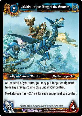 MEKKATORQUE KING X 4 WOW WARCRAFT TCG THRONE OF TIDES