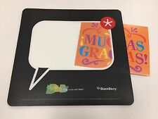 BlackBerry (RIM) Logo BBM Mouse Pad [PHOTO INSERT] *TeamBlackBerry*SWAG*Promo*