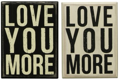 Primitives By Kathy boîte en bois signe vous aime plus Anniversaire de Mariage Cadeau