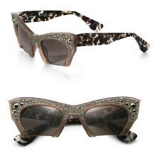 New Miu Miu MU02QS-TV01X1 Women Brown Frame Brown Lens Genuine Sunglasses F/ship