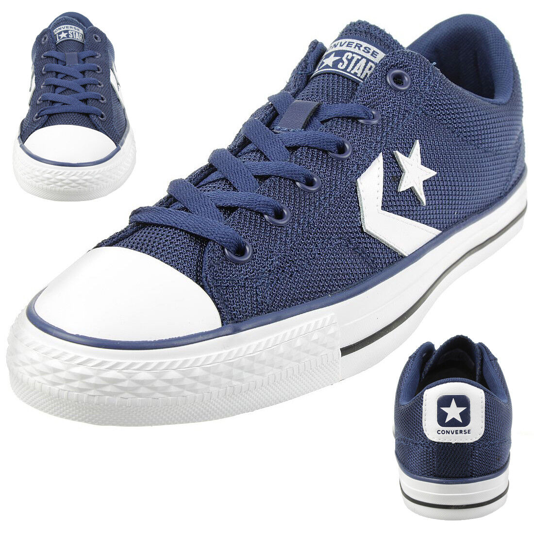 Converse Star Player OX SHOES TRAINERS 160582c Blue Scarpe classiche da uomo