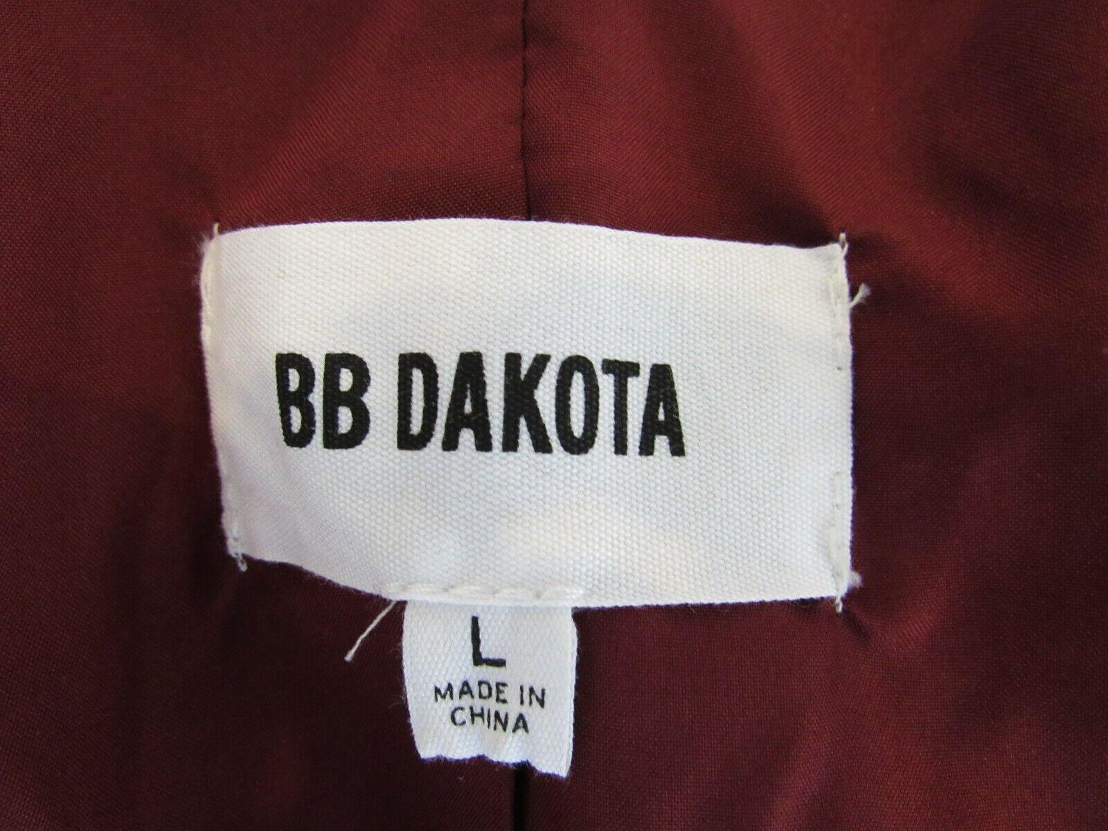BB Dakota Red Velvet Jacket Blazer Size Large - image 8